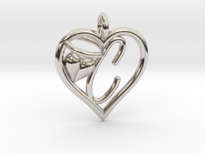 HEART C in Platinum