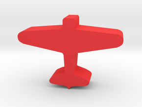 Game Piece, WW2 Zero Fighter in Red Processed Versatile Plastic