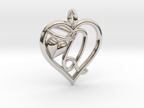 HEART Q in Rhodium Plated Brass