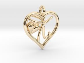 HEART K in 14K Yellow Gold