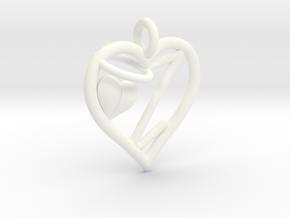 HEART Z in White Processed Versatile Plastic