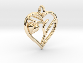 HEART Y in 14K Yellow Gold
