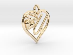 HEART U in 14K Yellow Gold