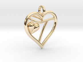 HEART T in 14K Yellow Gold