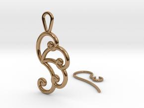 Fibonacci Earring 4 in Polished Brass