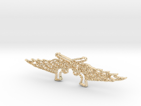 Pistol Wings Pendant in 14k Gold Plated Brass