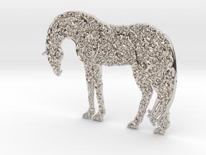 Horse Pendant in Platinum