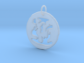 Pendant in Smooth Fine Detail Plastic