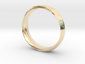 Mobius Ring with Groove Size US 9.75 in 14K Yellow Gold