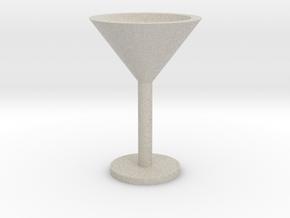 Martini glass mini in Natural Sandstone