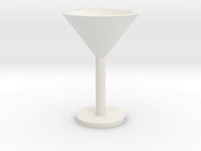 Martini glass mini in White Natural Versatile Plastic