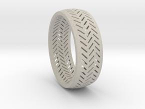Herringbone Ring Size 6 in Natural Sandstone