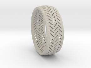 Herringbone Ring Size 16 in Natural Sandstone