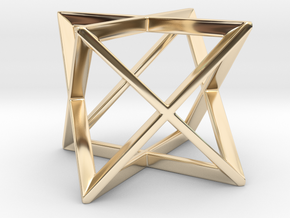 Stellated Octahedron (Merkaba) in 14k Gold Plated Brass