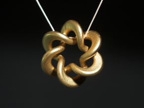 Flared Circular Double Helix Pendant in White Strong & Flexible