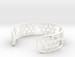 Geometric Tree Bracelet 7in (18cm) in White Processed Versatile Plastic