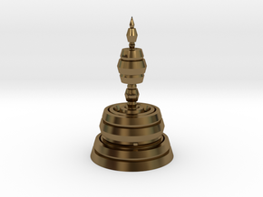 Fractality Chess - Bishop in Polished Bronze