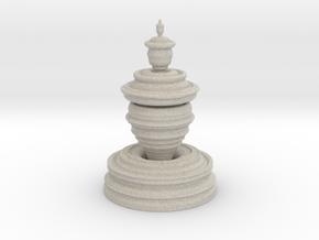 Fractality Chess - Pawn in Natural Sandstone