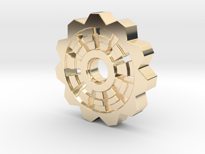Cog Pendant  in 14K Yellow Gold