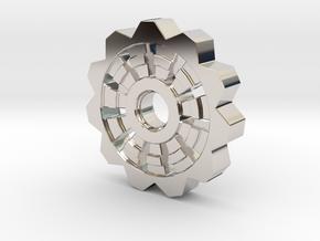 Cog Pendant  in Platinum