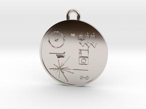 Voyager I Golden Record Pendant in Platinum