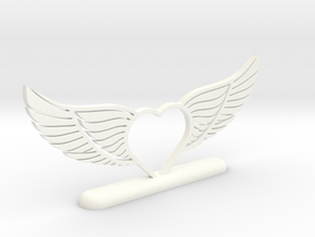 Wing-02 Accessory in White Processed Versatile Plastic