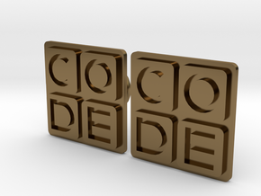 Code.org Cufflinks in Polished Bronze