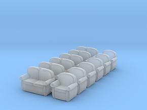 Sofas 01. HO  Scale (1:87) in Smooth Fine Detail Plastic