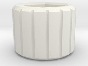 OD Fundus - Tension Screw Knurled  in White Natural Versatile Plastic