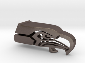 Seahawk 3d Logo Bottle Opener in Polished Bronzed Silver Steel