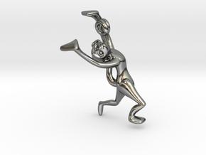 3D-Monkeys 039 in Fine Detail Polished Silver