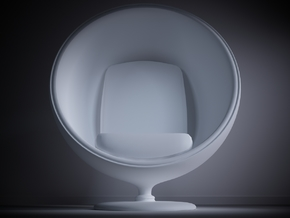 1/32 Egg Chair in White Processed Versatile Plastic