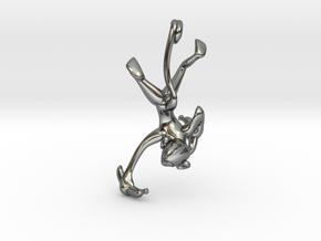 3D-Monkeys 068 in Fine Detail Polished Silver