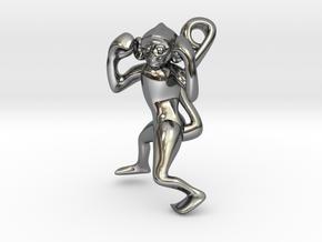 3D-Monkeys 070 in Fine Detail Polished Silver