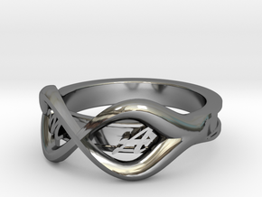 Ring M+A in Premium Silver