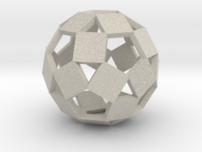 Open Rhombicosadodecahedron-Sandstone in Natural Sandstone