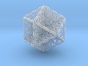 Flower Of Life Vector Equilibrium in Smooth Fine Detail Plastic