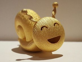 Golden Snail in Polished Gold Steel