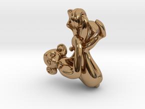 3D-Monkeys 099 in Polished Brass