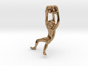 3D-Monkeys 116 in Polished Brass