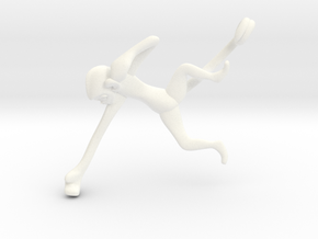 3D-Monkeys 128 in White Processed Versatile Plastic