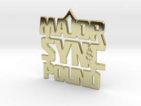 MAJOR Sync Pound 4.20 in 18k Gold Plated Brass