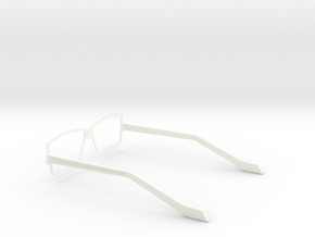 Glasses - Type3 in White Strong & Flexible Polished