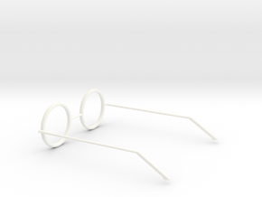 Glasses - Type5 in White Strong & Flexible Polished