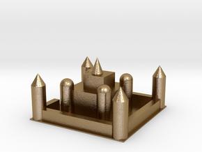 104102321城堡 in Polished Gold Steel