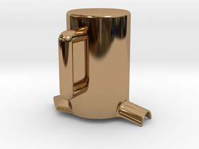 Times merge Cup in Polished Brass