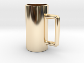 Excessive drinking cup in 14K Yellow Gold