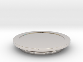 Modeling Coasters in Rhodium Plated Brass