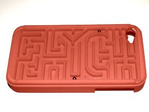 FLYHIGH: IPhone4 Maze Case in Red Strong & Flexible Polished