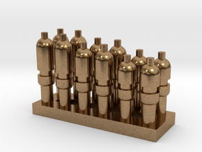 Whistle Bank of 12 in Natural Brass